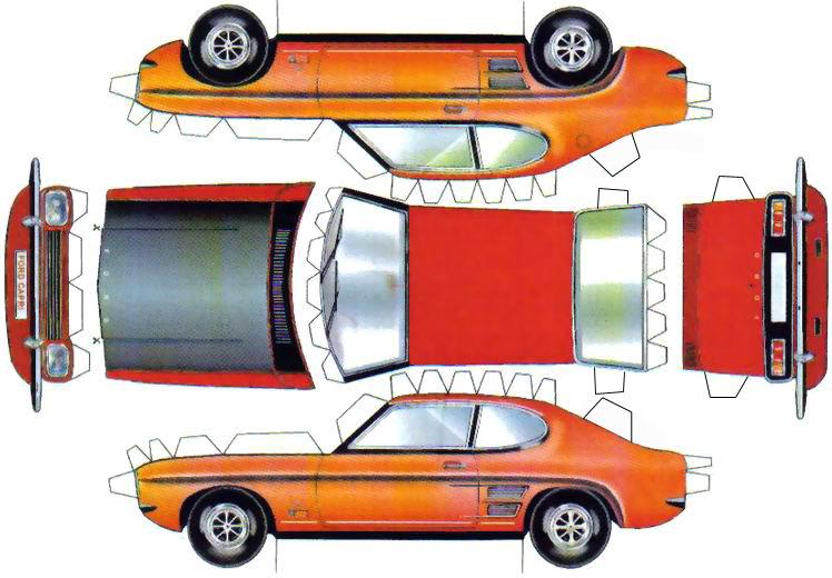 Papercraft Voiture Mercedes