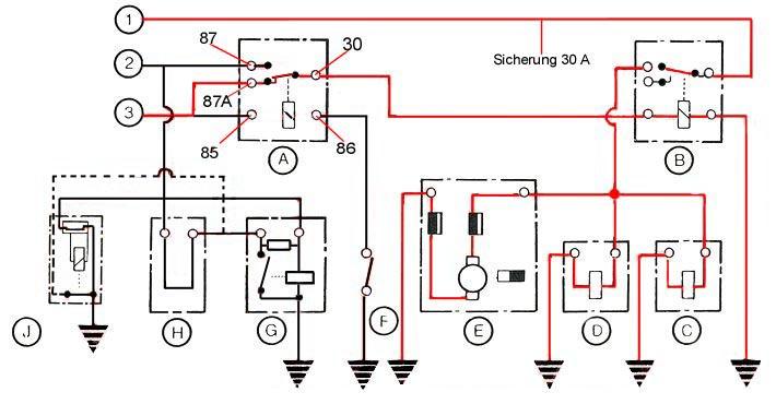 K-Jetronic Schaltplan Motor Normalbetrieb / wiring diagram engine ...
