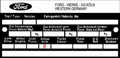 Ford Capri axle ratio