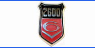2600GT V6 Emblem - wing shield